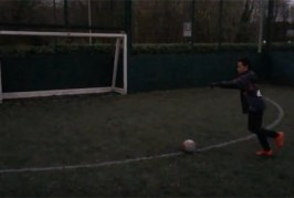 Rabona Crossbar Shot
