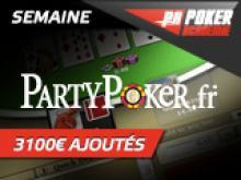 Semaine Party Poker avec 3100 € ajoutés!