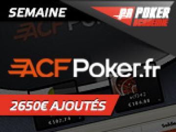 Deepstack PA sur ACFPoker - 150€ ajoutés + 4 places pour la Finale PA