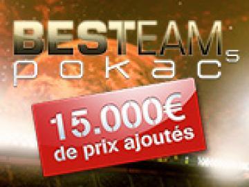 Etape 9 Best Team Pokac 15000€ ajoutés