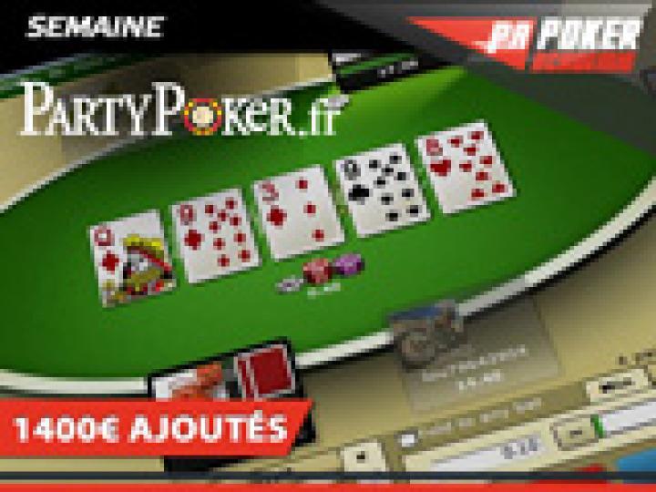 Deux semaines PartyPoker: un nouveau logiciel et 1400€ ajoutés!