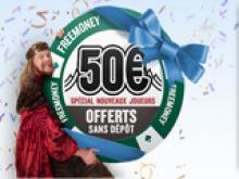 L'offre 50€ sans dépôt est de retour sur Everest !