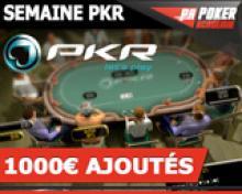 Tournoi PokerAc 1€ rebuy - 400€ ajoutés sur PKR