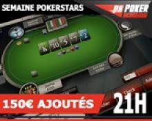 Tournoi 1€ sur PokerStars avec 150€ ajoutés