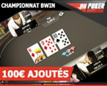 Tournoi Galaxy 100€ sur Bwin