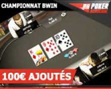 Tournoi Univers 100€ sur Bwin