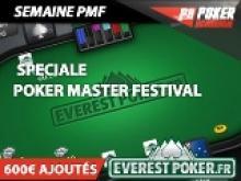 Semaine spéciale Poker Master Festival - 600€ à gagner sur Everest Poker