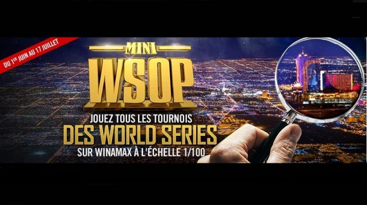 MINI WSOP sur Winamax : Participez aux Worlds Séries Of Poker depuis votre canapé !