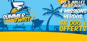 Summer Twist : Remportez des tickets Twister tout l'été sur Betclic
