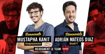 Mustapha Kanit et Adrian Mateos, deux recrues de choix pour la team Winamax