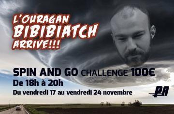 Le nouveau challenge Spin & Go de Bibibiatch !