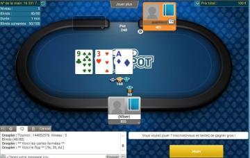 Batmax joue en live sur 2 tables de SNG Jackpot 100€ de PMU Poker