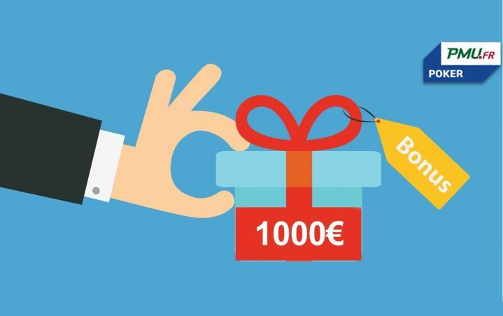 Bonus 1er dépôt boosté sur PMU Poker (jusqu'à 1000€)