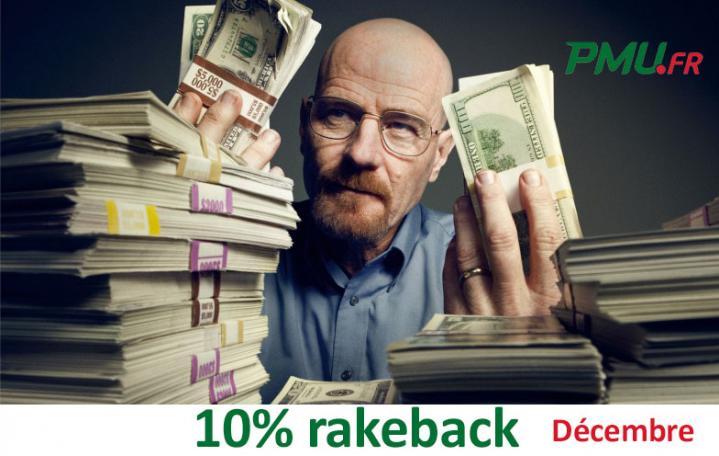 Promo extracash Poker Académie : 10% de rakeback supplémentaire en décembre sur PMU