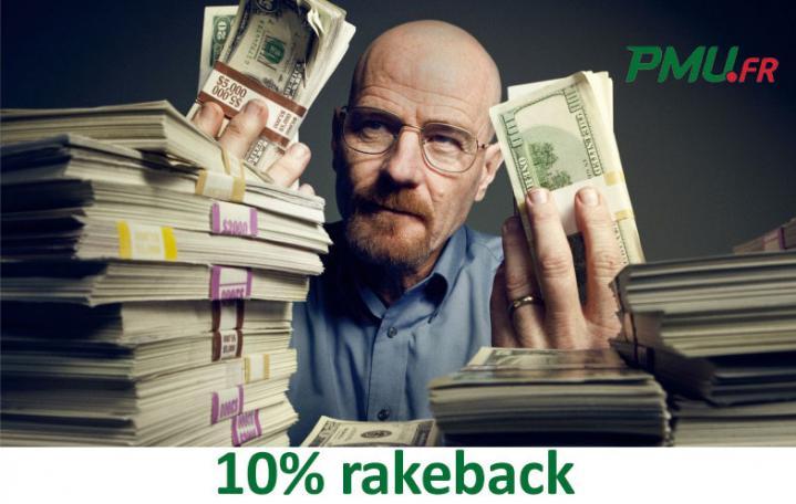 Promo extracash sur PMU : 10% de rakeback supplémentaire en février