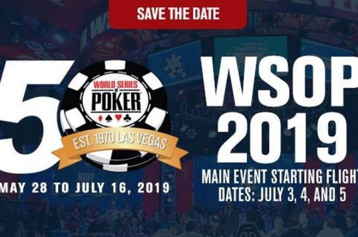 Le programme complet des WSOP 2019