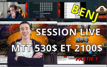 [Replay] Benj joue en live un 530$ et 2100$ WCOOP (day 2) [1/5]