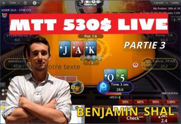 [Replay] Benj joue en live un 530$ et 2100$ WCOOP (day 2) [3/5]