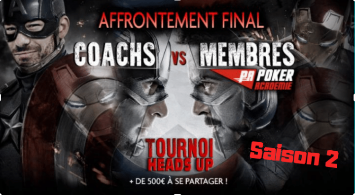 L'affrontement final saison 2 : Défiez les coachs en Heads Up - 500€ à se partager