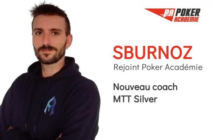 Sburnoz renforce la team des coachs Poker Académie !