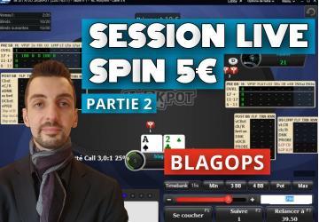 Blagops joue en live sur les 5€ SNG Jackpot - Part2