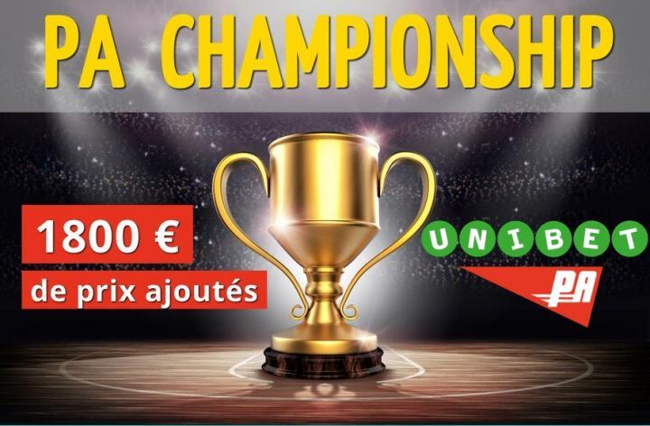 Les PA CHAMPIONSHIP  sur Unibet : 1800€ de prix à gagner