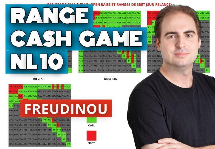 Nos tableaux des ranges en cash game (petites limites : NL10)