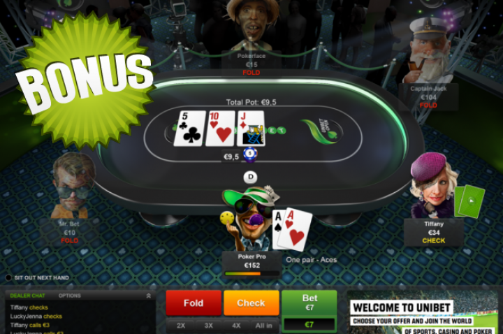 Bonus Cash : Convertissez vos PPA en cash sur Unibet Poker
