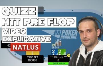 Quiz MTT [Débutant] : Le jeu pré flop - Vidéo explicative