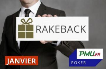 La promo rakeback Poker Académie de janvier sur PMU Poker !