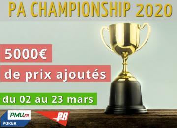 Championnat PA 2020 : 5000€ de lots à se partager !