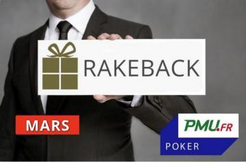 La promo rakeback Poker Académie de mars sur PMU Poker !