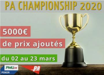 Championnat PA 2020 : Place aux 1/4 de finale !