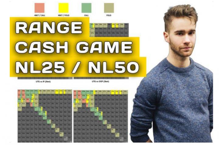 Tableaux des ranges en cash game NL25/50 - Vidéo explicative