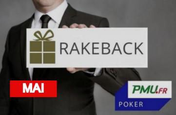La promo rakeback Poker Académie de mai sur PMU Poker !