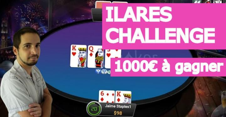 Le Ilares head's up challenge - 1000 euros à gagner sur partypoker
