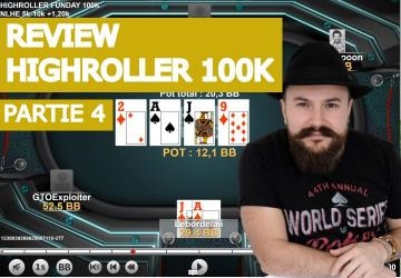 Analyse de mains dans le high Roller Sunday 100K (4)