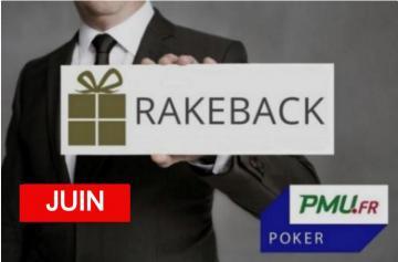 La promo rakeback Poker Académie de juin sur PMU Poker !