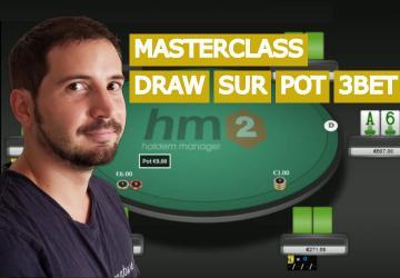 Jouer un draw dans un pot 3bet avec l'initiative