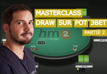 Jouer un draw dans un pot 3bet avec l'initiative (2)