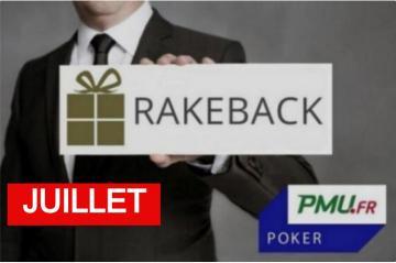 La promo rakeback Poker Académie de juillet sur PMU Poker !