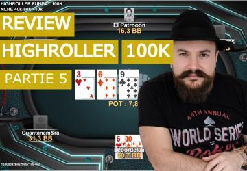 Analyse de mains dans le high Roller Sunday 100K (5)