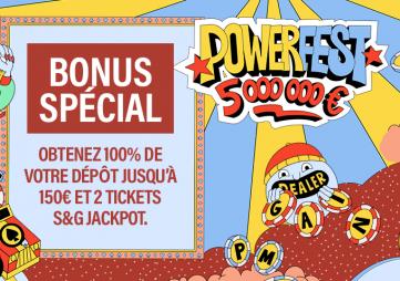 Powerfest : 5 000 000 € garantis sur PMU Poker et partypoker !