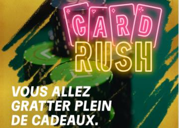 L'opération Card Rush de retour sur PMU Poker et partypoker