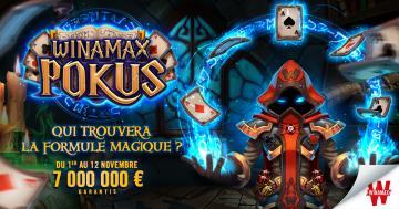 7 millions d'euros garantis comme par magie avec Winamax Pokus