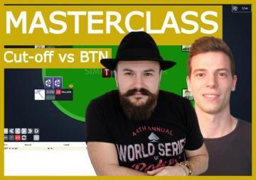 Le jeu hors de position post flop : Cut-off vs BTN (50BB deep)