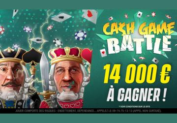 Cash-Game Battle : 14.000€ à gagner chaque mois sur Unibet