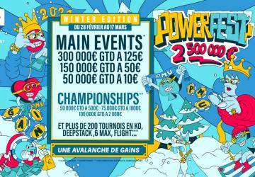Powerfest Winter : 2 500 000 € garantis sur PMU et partypoker !