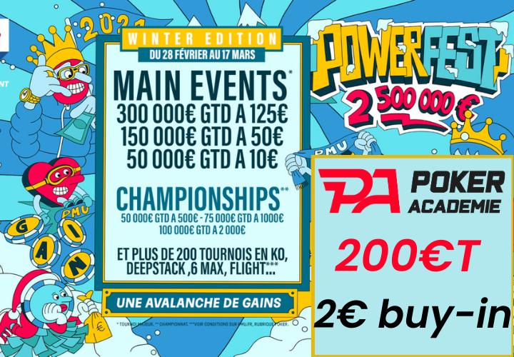 Pokac Special Powerfest Winter (2€) - 200€ ajoutés