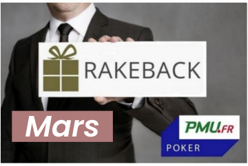 La promotion rakeback de mars sur PMU Poker !